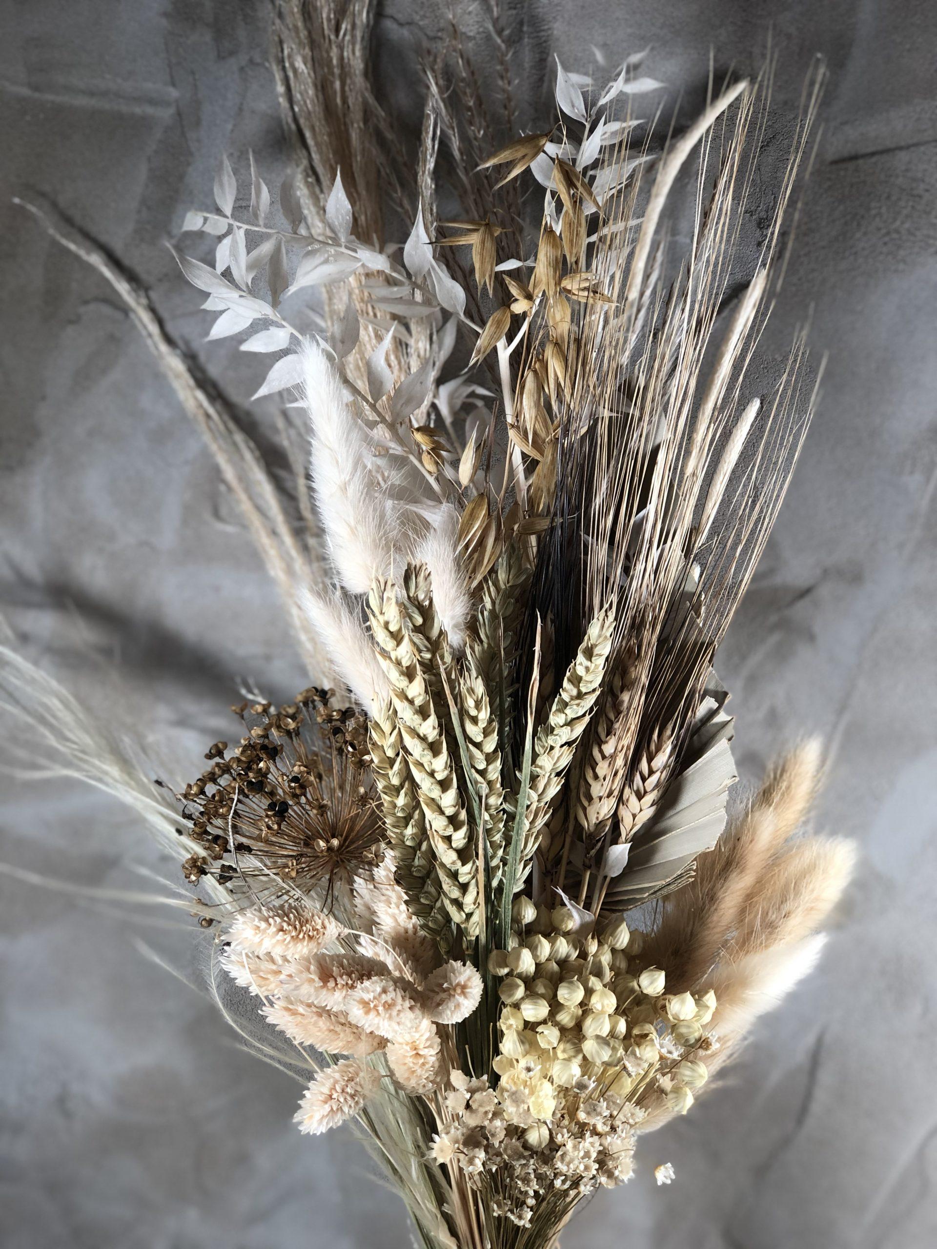 Dried Flower Bouquet Neutrals Darling Buds Wedding Floral Design